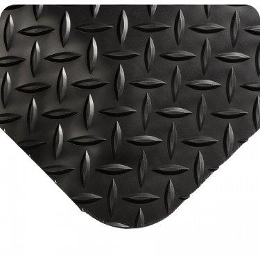 WEARWELL - 497.58X2X6BK - Smart Diamond-Plate Mats No.497 - 2' x 6' - 5/8 - Black - Unit Price