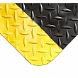 WEARWELL - 497.58X3X12BYL - Smart Diamond-Plate Mats No.497 - 3' x 12' - Black with yellow safety border - Unit Price