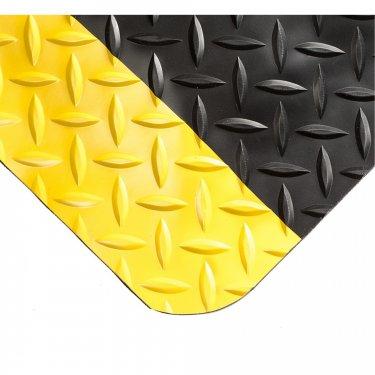 WEARWELL - 497.58X3X6BYL - Smart Diamond-Plate Mats No.497 - 3' x 6' - Black with yellow safety border - Unit Price