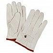 ZENITE - SM588 - Standard Quality Grain Cowhide Ropers Glove - Blanc - Small - Price per pair
