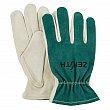 ZENITH - SDK966 - Standard Quality Full Index Split Cowhide Leather Palm Gloves - Beige/Green - Medium - Price per pair