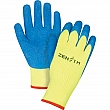 Zenith - SEC797 - High Visibility Coated Gloves - Yellow/Blue - Small - Price per pair