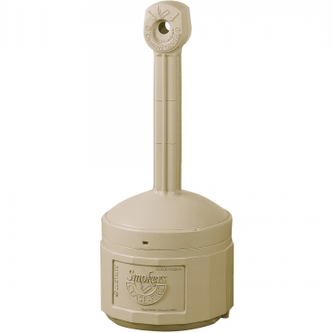 Justrite - 26806B - Smoker's Cease-Fire® Cigarette Butt Receptacle - Adobe Beige
