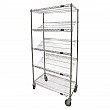 Kleton - RN595 - Slanted Shelf Carts - 36 x 18 x 69 - Unit Price