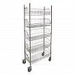 Kleton - RN613 - Wire Basket Shelving Carts - 5 Shelfs - 48 x 18 x 80 - Unit Price