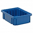 Quantum Storage System - DG91035-BLUE - Divider Box® Containers - 10.9 x 8.3 x 3.5 - Blue - Unit Price