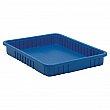 Quantum Storage System - DG93030-BLUE - Divider Box® Containers - 22.5 x 17.5 x 3 - Blue - Unit Price