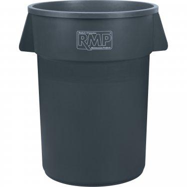 RMP - JK676 - Garbage Bin - Polyethylene - 27.6 x 31.5 - 44 US gal. - Grey - Unit Price