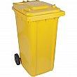 RMP - SEI276 - Roll Out Garbage Bin - 23 x 29 x 42 - 63 US gal. - Yellow - Unit Price