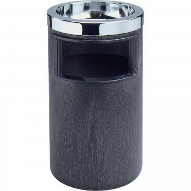 Rubbermaid - FG258600BLA - Classic Ash Tray & Waste Receptacle Each