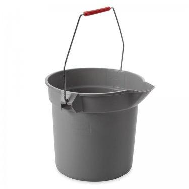 Rubbermaid - FG296300GRAY - Brute® Buckets - 2.5 US Gal. (10 qt.) - Grey - Unit Price