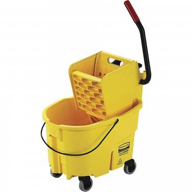 Rubbermaid - FG748000YEL - WaveBrake® Mop Bucket and Wringer - Side Press - 6.5 US Gal. (26 Quart) - Yellow - Unit Price