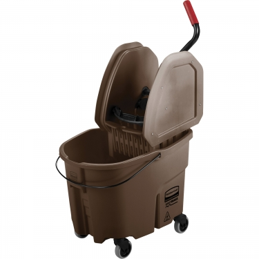 Rubbermaid - FG757788BRN - WaveBrake® Mop Bucket & Wringer Combo Pack  - Down Press - 8.75 US Gal.(35 Quart) - Brown - Unit Price