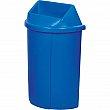 Techstar Plastics Inc - 519B BIL PAPER ONLY - Recycling Containers Half Moon Bullseye™ - 68L/18 US Gallon - Blue - Unit Price