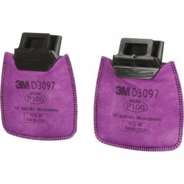 3M - D3097 - Secure Click™ Filter - Particulate Filter with Nuisance Vapour Relief - Organic Vapour/P100 - NIOSH - Price per pair