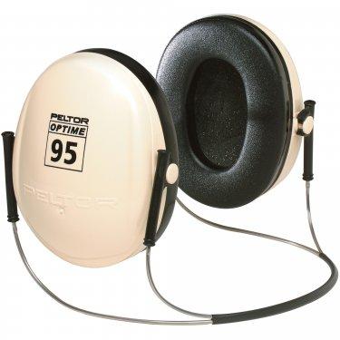 3M - H6B/V - Peltor™ Optime™ 95 Series Earmuffs - Behind-the-neck - CSA Class: B - NRR dB 21 - White - Unit Price