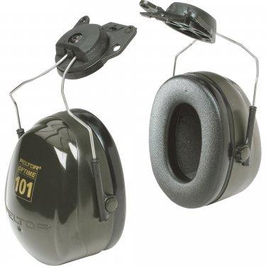 3M - H7P3E - Peltor™ Optime™ 101 Series Earmuffs - Cap Mount - CSA Class: A - NRR dB 24 - Green - Unit Price