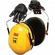 3M - H9P3E - Peltor™ Optime™ 98 Series Earmuffs - Cap Mount - CSA Class: A - NRR dB 23 - Yellow - Unit Price