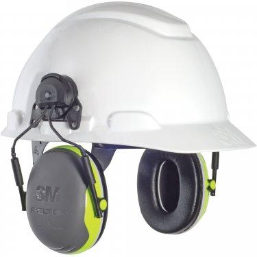 3M - X4P3E - Peltor™ X Series Earmuffs - Cap Mount - CSA Class: A - NRR dB 25 - Black/Green - Unit Price