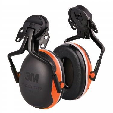 3M - X4P5E - Peltor™ Electrically Insulated Earmuffs - Cap Mount - CSA Class: None - NRR dB 25 - Black/Orange - Unit Price