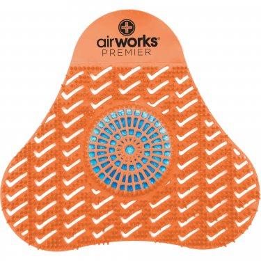 Hospeco - AWSP007 - AirWorks® Premier Urinal Screens with Block Orange & Blue Mango Box of 12
