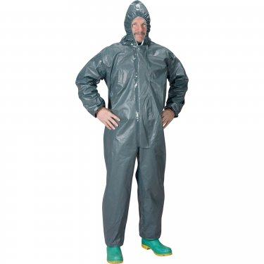 Lakeland - 51130-M - Pyrolon® 2.0 Mil CRFR Hooded Coveralls - FR Treated Fabric - Grey - Medium - Unit Price