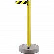 Tensator - 885-35-MAX-NO-D4X-C - Outdoor TensaBarrier®  - Plastic - Yellow - Tape: Black/Yellow 13' Blank - Height: 37 - Unit Price