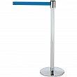 Tensator - 890U1P1P1PSTDNOL5 - Slimline TensaBarrier®  - Steel - Polished Chrome - Tape: Blue 7.5' Blank - Height: 38 - Unit Price