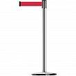 Tensator - 890U1P1P1PSTDNOR5 - Slimline TensaBarrier®  - Steel - Polished Chrome - Tape: Red 7.5' Blank - Height: 38 - Unit Price