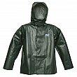 Viking - 4125J-L - Journeyman Chemical Resistant Rain Jacket - Polyester/PVC - Green - Large - Unit Price