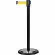 Zenith Safety Products - SDN780 - Free-Standing Crowd Control Barrier  - Steel - Black - Tape: Yellow 12' Blank - Height: 35 - Unit Price