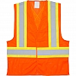Zenith Safety Products - SGI273 - Traffic Safety Vest - Polyester - High Visibility Orange - Stripe: Orange/Silver - Medium - Unit Price