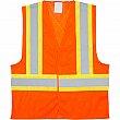 Zenith Safety Products - SGI275 - Traffic Safety Vest - Polyester - High Visibility Orange - Stripe: Orange/Silver - X-Large - Unit Price