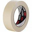 3M - 101+-36X55 - 101+ Value Masking Tape - 36 mm (1-1/2) x 55 m (180') - Tan - Unit Price