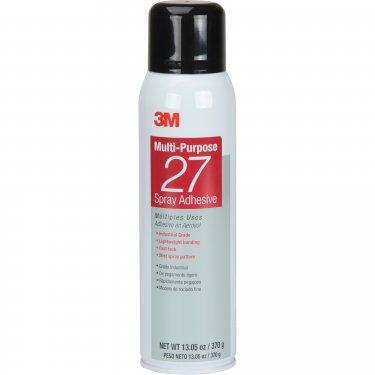3M - 27-20OZ-IND - 27 Multi-Purpose Spray Adhesive - 13.05 oz - Clear - Unit Price