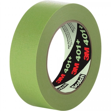 3M - 401+24X55IW - 401+ High Performance Masking Tape - 24 mm (1) x 55 m (180') - Green - Unit Price
