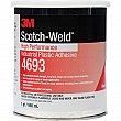3M - 4693-1QT - Scotch-Weld™ High-Performance Industrial Plastic Adhesive - 16 oz - Clear - Unit Price