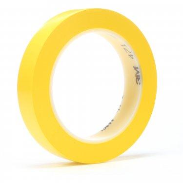 3M - 471-1/4X36-YLW - 471 Vinyl Tape - 6 mm (1/4) x 32.9 m (108') - 5.2 mils - Yellow - Unit Price