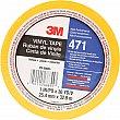 3M - 471-1X36-YLW-BX - 471 Vinyl Tape - 25.4 mm (1) x 32.9 m (108') - 5.2 mils - Yellow - Unit Price