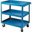 Kleton - MB497 - Knocked-Down Shelf Carts - 3-Shelf Utility Trucks  - Steel - 3 Shelves - Capacity 900 lb - 24 x 48 x 36 - Unit Price