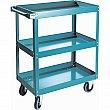Kleton - ML143 - Knocked-Down Shelf Carts - 3-Shelf Utility Trucks  - Steel - 3 Shelves - Capacity 900 lb - 24 x 36 x 48 - Unit Price