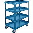 Kleton - ML148 - Knocked-Down Shelf Carts - 4-Shelf Utility Trucks  - Steel - 4 Shelves - Capacity 900 lb - 18 x 30 x 61 - Unit Price