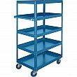 Kleton - ML153 - Knocked-Down Shelf Carts - 5-Shelf Utility Trucks - Steel - 5 Shelves - Capacity 900 lb - 24 x 48 x 61 - Unit Price