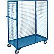 Kleton - ML194 - Wire Mesh Utility Cart  - Steel - 1 Shelves - Capacity 2400 lb - 30 x 63 x 63 - Unit Price