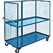 Kleton - ML200 - Wire Mesh Utility Cart  - Steel - 2 Shelves - Capacity 1200 lb - 30 x 39 x 63 - Unit Price