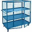 Kleton - ML256 - Security Trucks  - Steel - 3 Shelves - Capacity 2400 lb - 26 x 39 x 62-1/2 - Unit Price