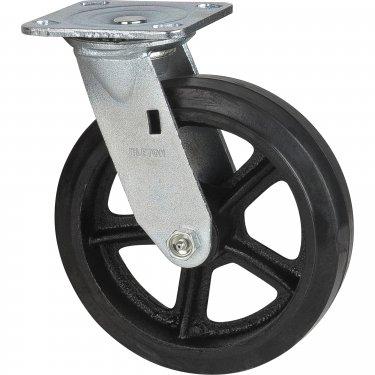 Kleton - ML852 - Mold-on Caster - Rubber - Swivel - Capacity 600 lbs. (272 kg.)s - Black - 8 (203 mm) - Unit Price