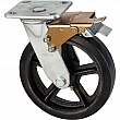 Kleton - ML854 - Mold-on Caster - Rubber - Swivel with Brake - Capacity 600 lbs. (272 kg.)s - Black - 8 (203 mm) - Unit Price