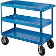 Kleton - MN146 - Knocked-Down Shelf Carts - 3-Shelf Utility Trucks  - Steel - 3 Shelves - Capacity 900 lb - 24 x 36 x 52 - Unit Price