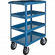 Kleton - MN154 - Knocked-Down Shelf Carts - 4-Shelf Utility Trucks  - Steel - 4 Shelves - Capacity 900 lb - 24 x 36 x 52 - Unit Price